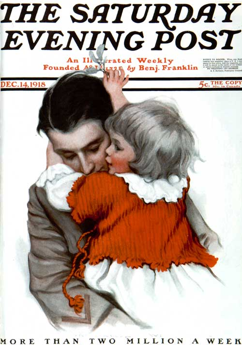 Soldier's embrace - Saturday Evening Post